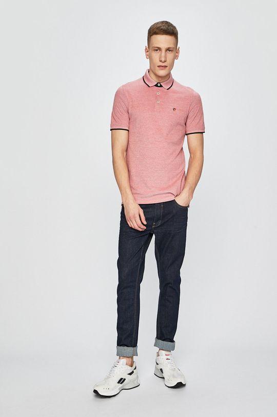 Premium by Jack&Jones - polo tričko fialovo-růžová