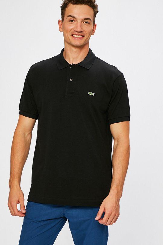 negru Lacoste - Tricou Polo . De bărbați
