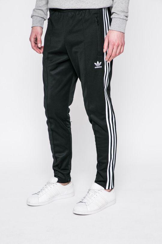 čierna adidas Originals - Nohavice Beckenbauer Pánsky