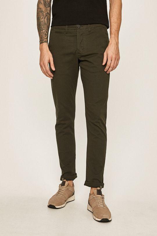 tmavě zelená Produkt by Jack & Jones - Kalhoty 12130729 Pánský