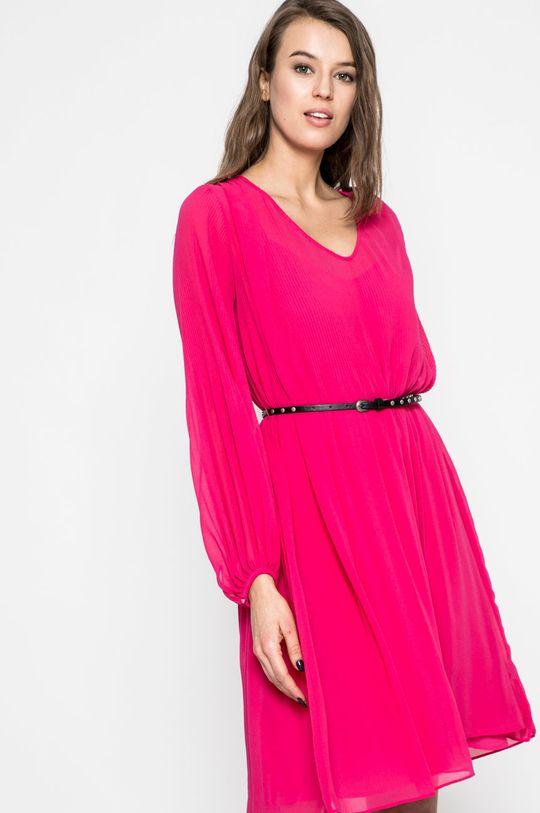 Pepe Jeans - Šaty ostrá růžová