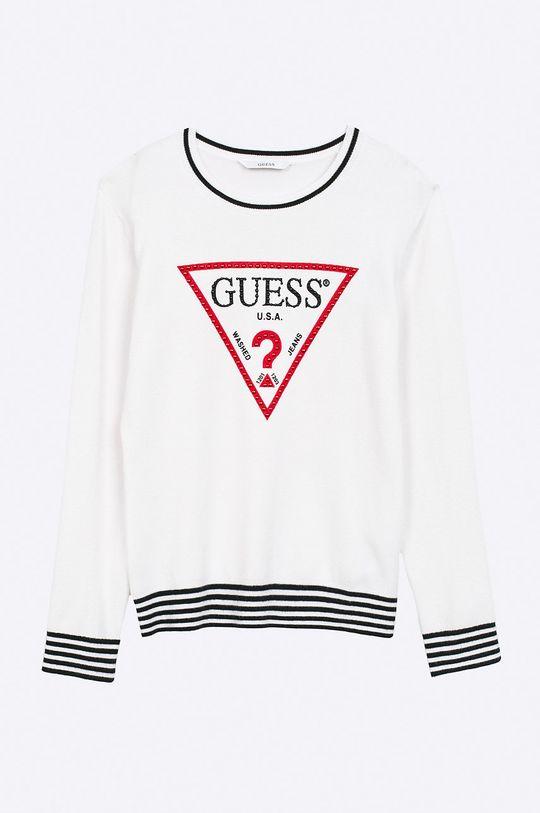 alb Guess Jeans - Pulover copii 118-175 cm De fete