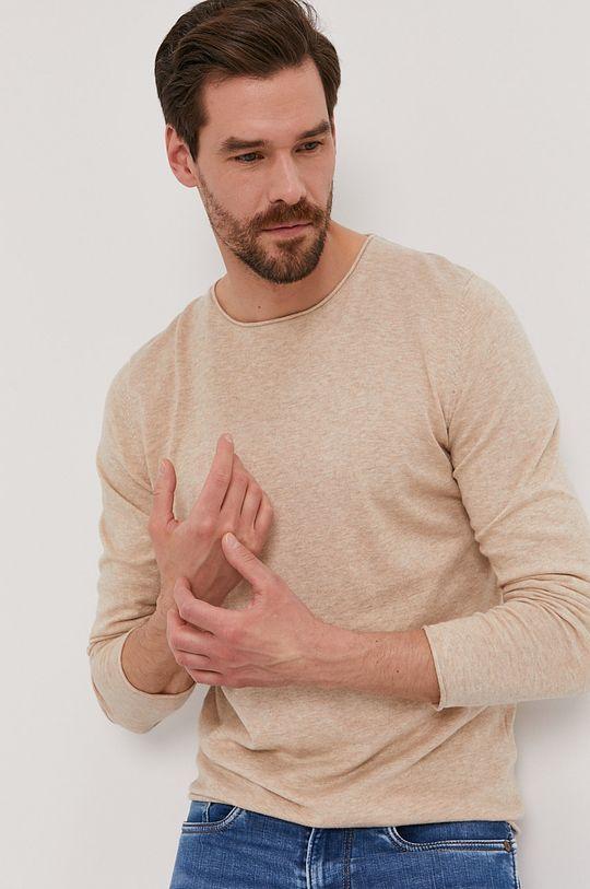 beżowy Selected - Sweter Męski
