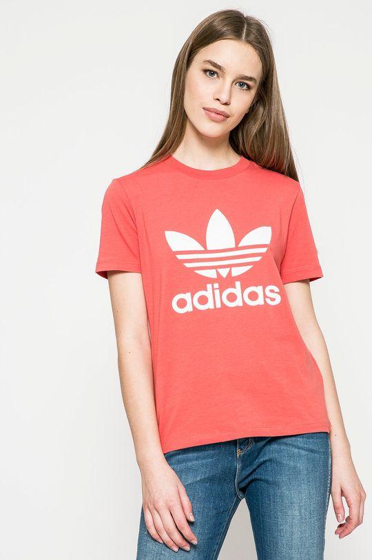наситеночервен adidas Originals - Топ Жіночий