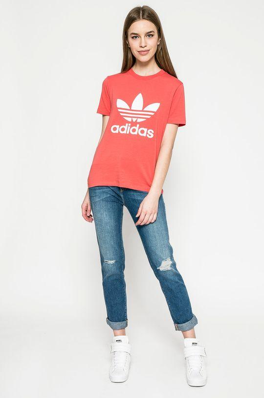 adidas Originals - Топ наситеночервен