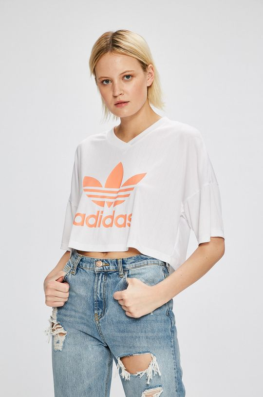 biela adidas Originals - Top Dámsky
