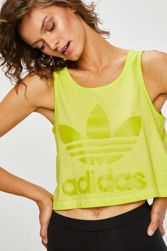 жълто-зелен adidas Originals - Топ