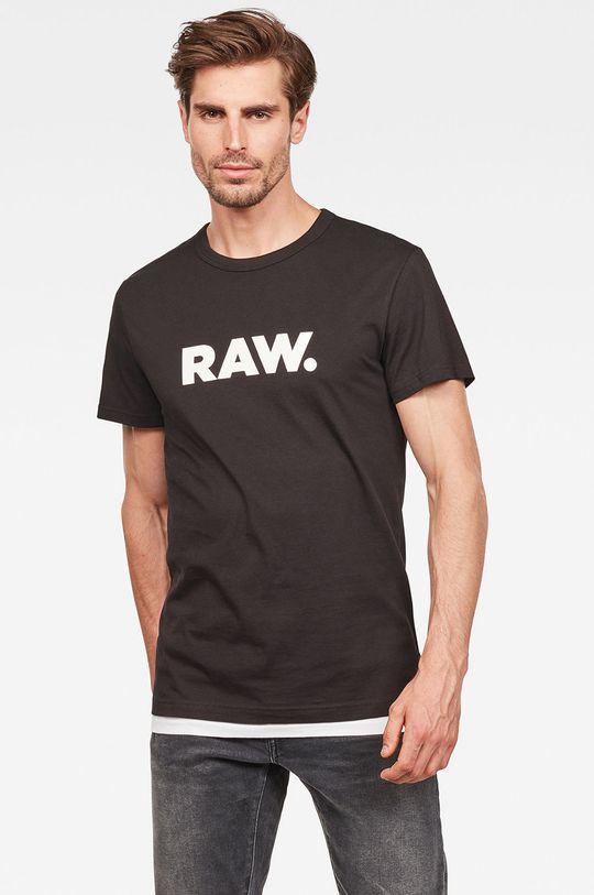 czarny G-Star Raw - T-shirt Męski