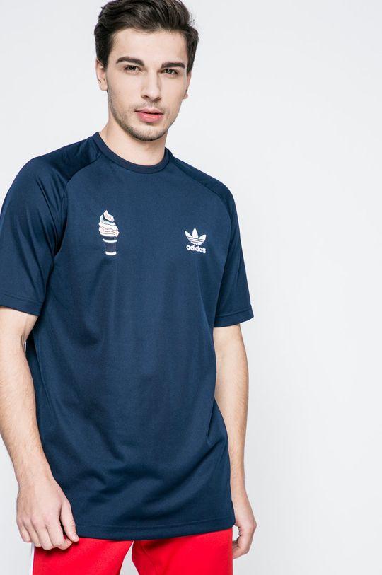 sötétkék adidas Originals - T-shirt Férfi