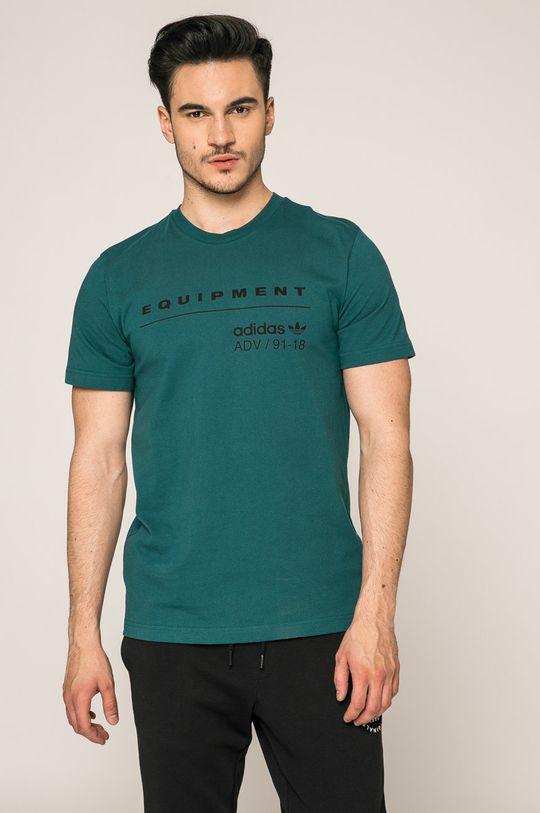 стоманено-зелен adidas Originals - Тениска Чоловічий