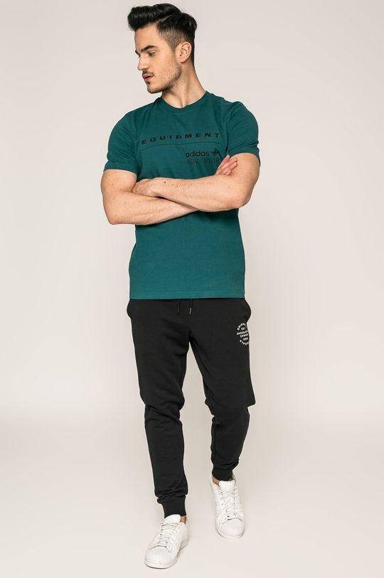 adidas Originals - Тениска стоманено-зелен