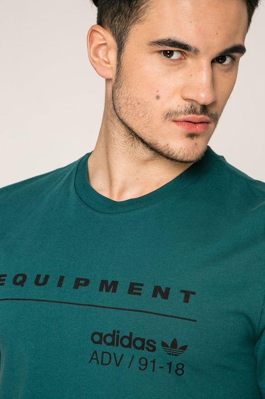 стоманено-зелен adidas Originals - Тениска