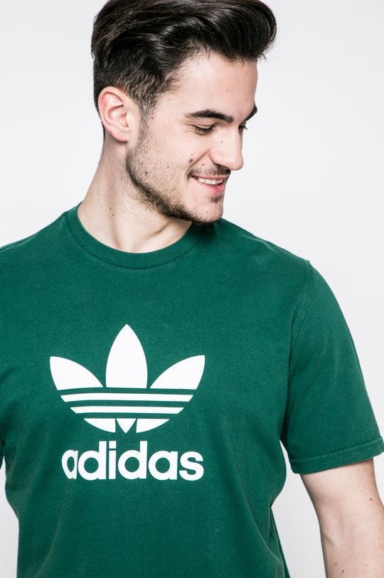 зелен adidas Originals - Тениска