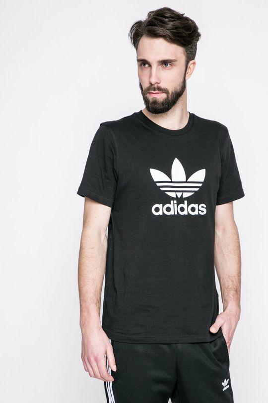 čierna adidas Originals - Pánske tričko Pánsky