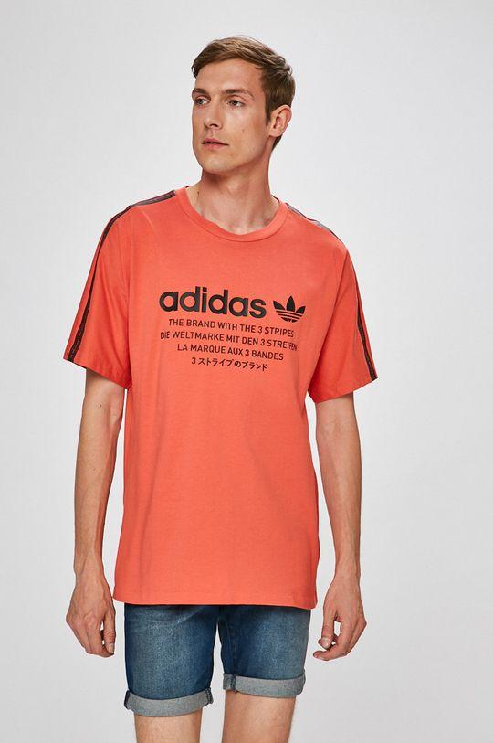 élénk vörös adidas Originals - T-shirt Férfi