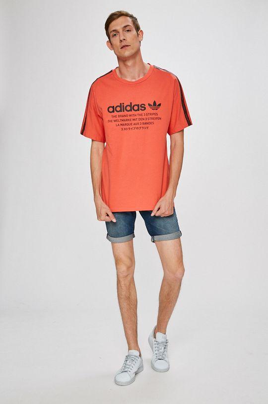 adidas Originals - T-shirt élénk vörös
