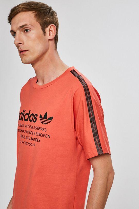 élénk vörös adidas Originals - T-shirt