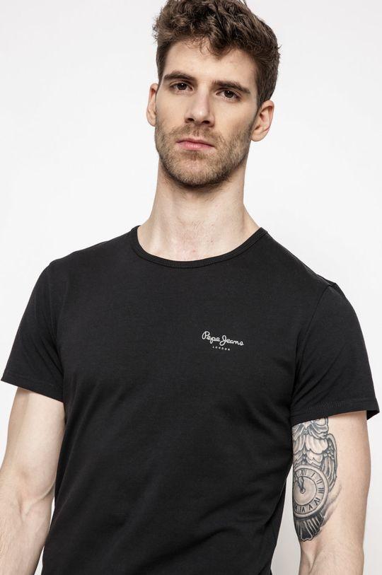 čierna Pepe Jeans - Pánske tričko Pánsky