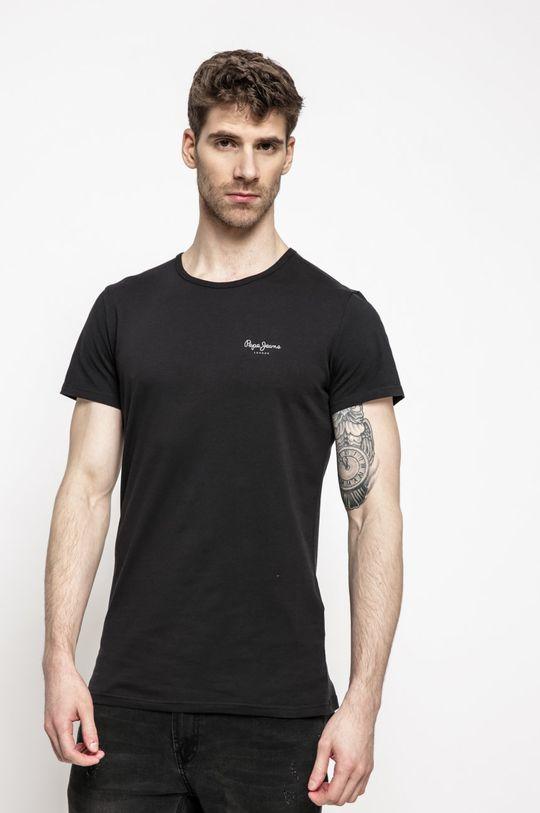 čierna Pepe Jeans - Pánske tričko