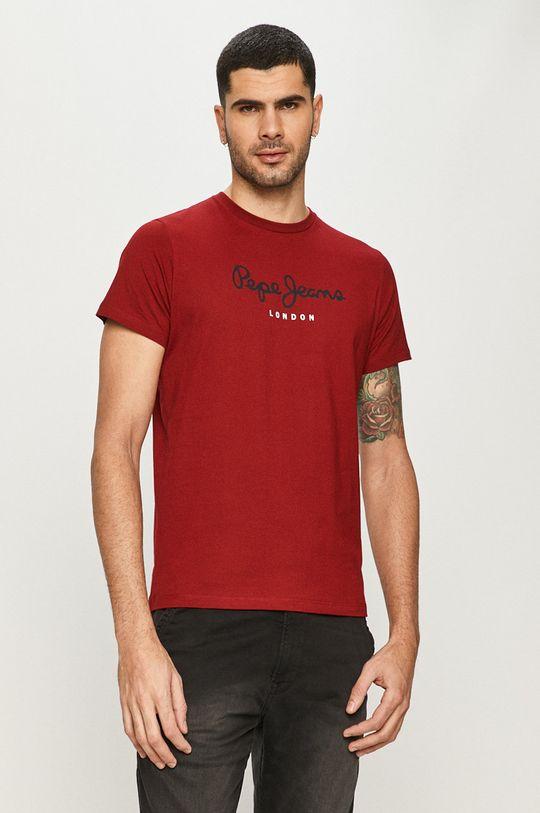 czerwony Pepe Jeans - T-shirt Eggo Męski