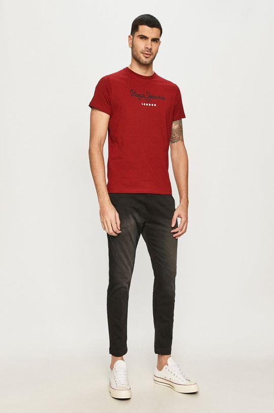 Pepe Jeans - T-shirt Eggo czerwony