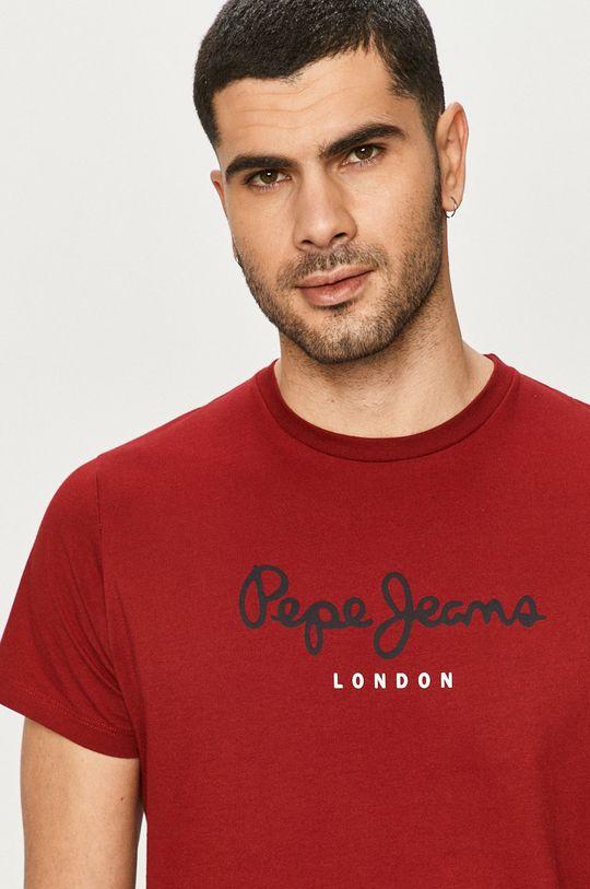 czerwony Pepe Jeans - T-shirt Eggo