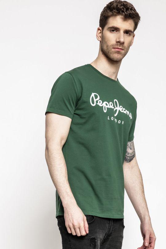 zelená Pepe Jeans - Tričko Pánský