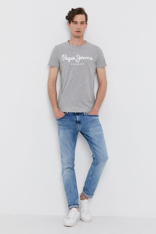 szary Pepe Jeans - T-shirt Męski