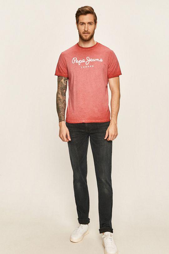 Pepe Jeans - Tricou roz