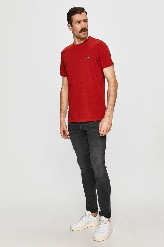 Lacoste - Tričko kaštanová