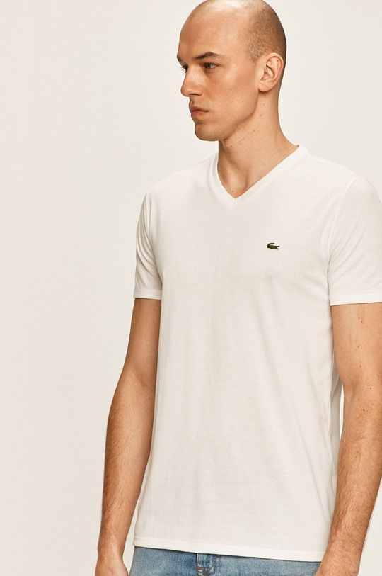 alb Lacoste - Tricou De bărbați