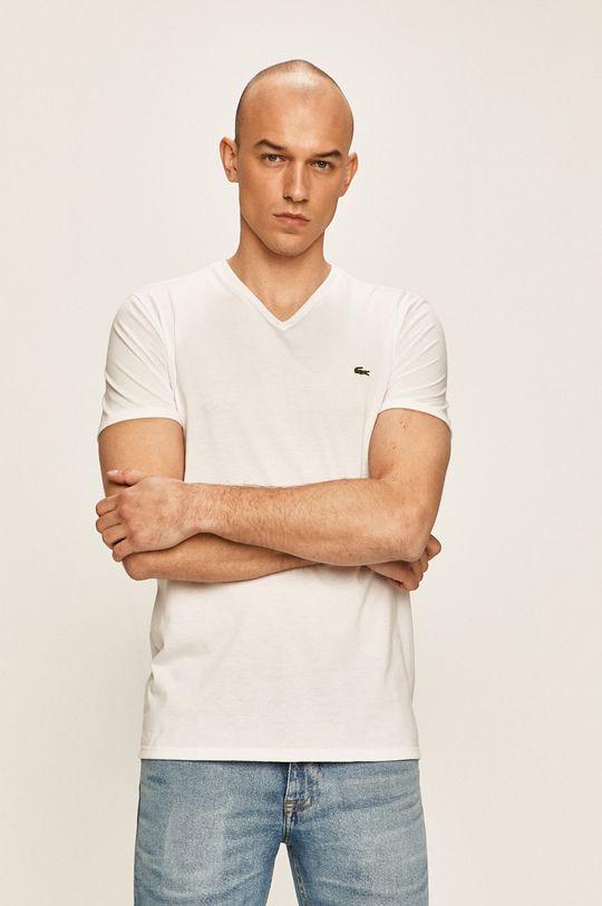 biały Lacoste - T-shirt