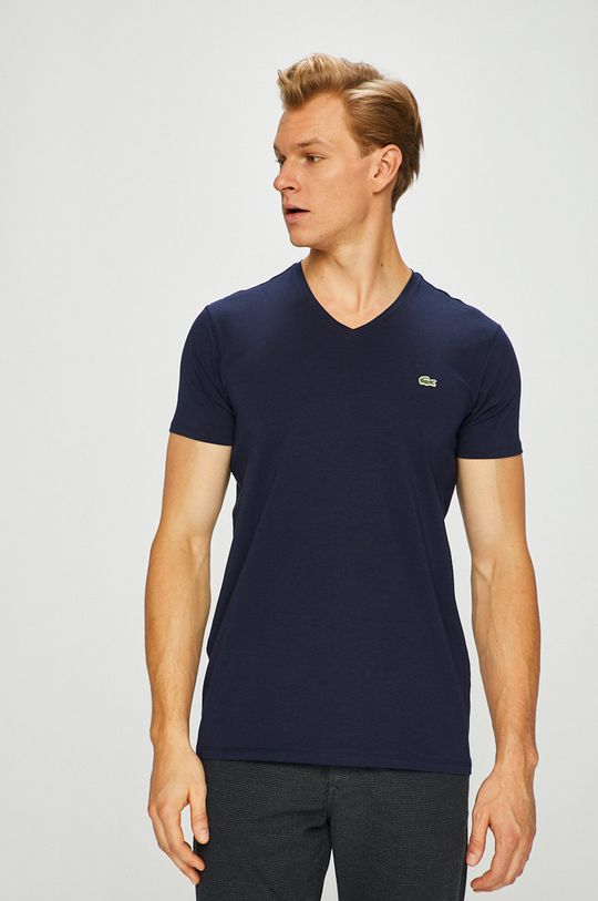 granatowy Lacoste - T-shirt Męski