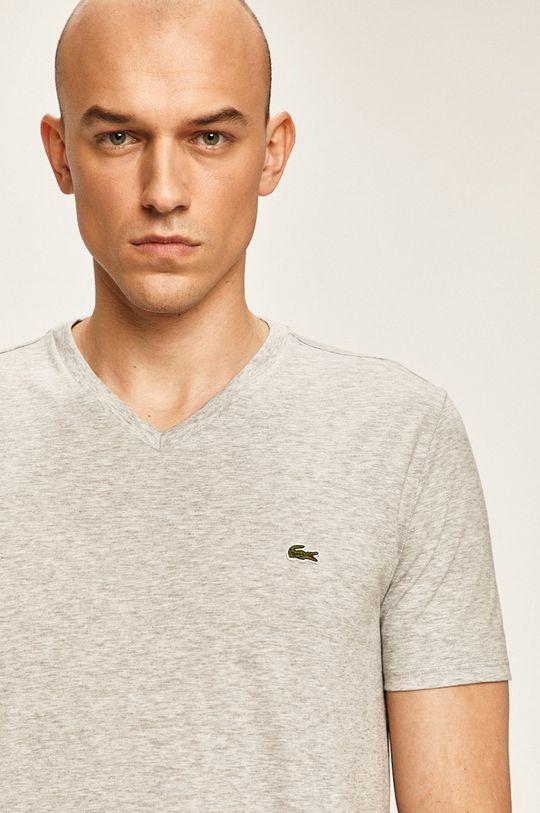 szary Lacoste - T-shirt Męski