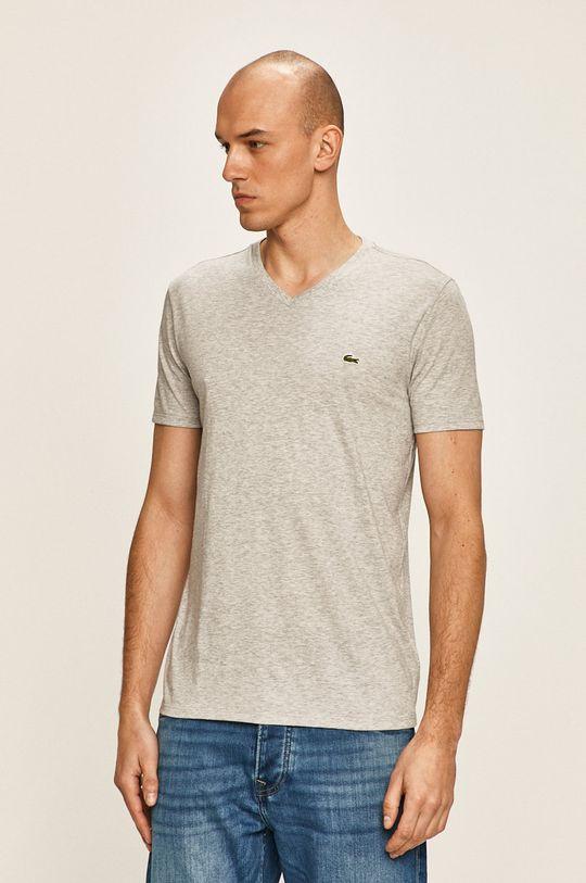szary Lacoste - T-shirt