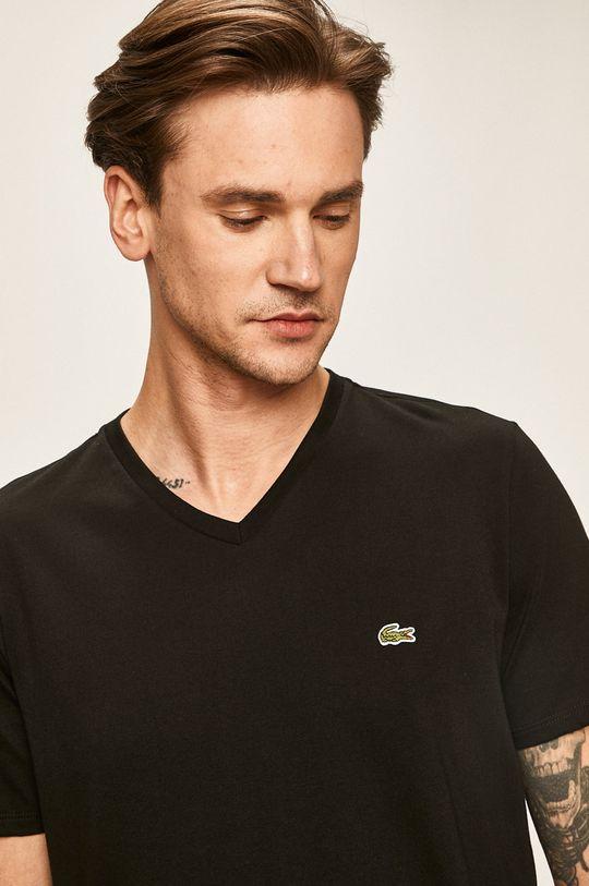 czarny Lacoste - T-shirt