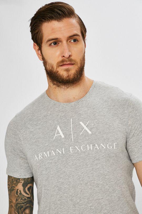 szary Armani Exchange - T-shirt