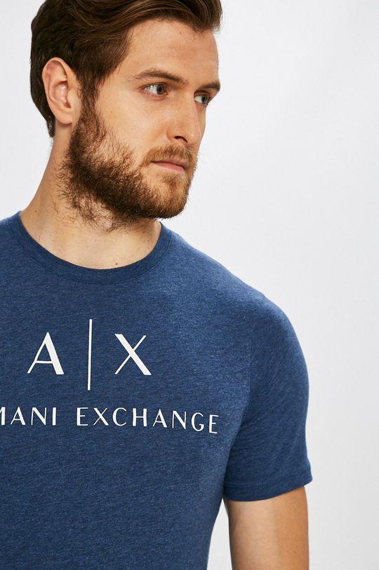 oceľová modrá Armani Exchange - Pánske tričko