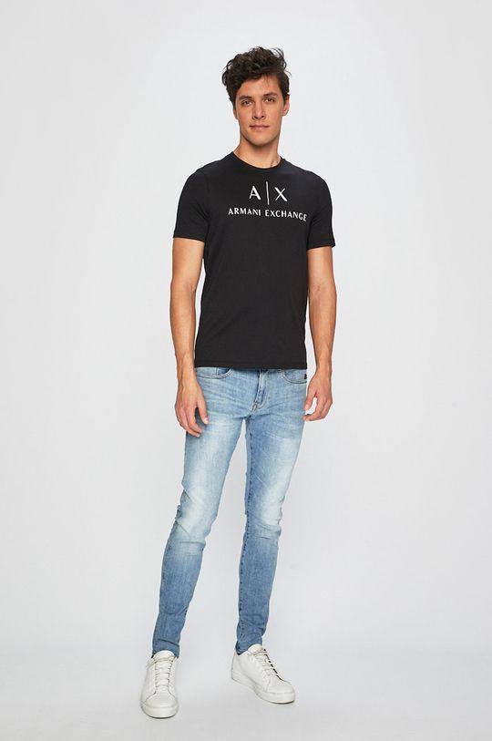 Armani Exchange - T-shirt czarny