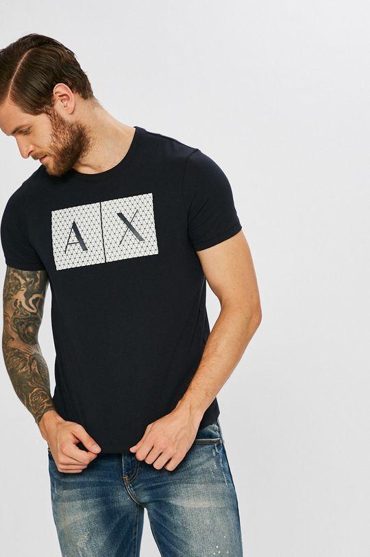 tmavomodrá Armani Exchange - Pánske tričko Pánsky