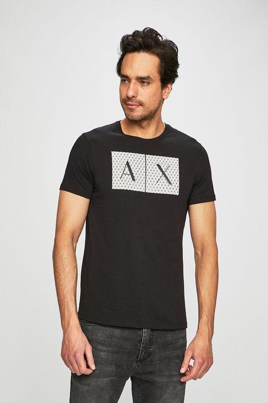 czarny Armani Exchange - T-shirt Męski