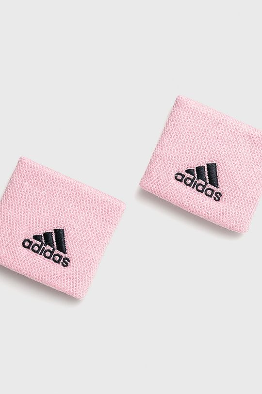 ružová adidas Performance - Potítko (2-pak) Dámsky