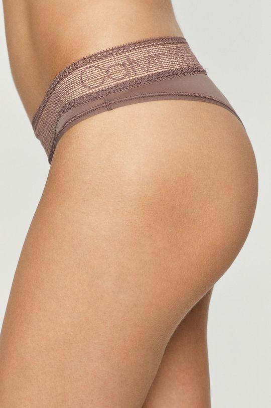 Calvin Klein Underwear - Brazílske nohavičky ružovofialová
