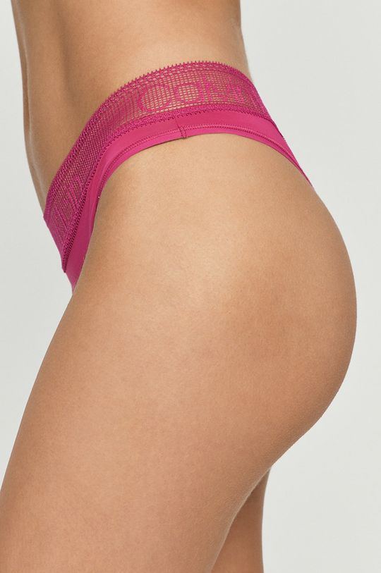 Calvin Klein Underwear - Brazílske nohavičky sýto ružová