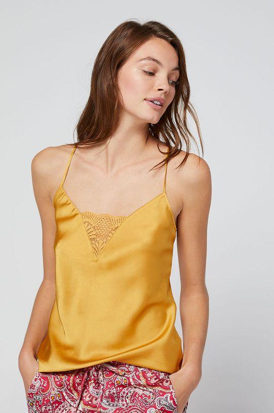 Etam - Pizsama felső Patch mustársárga