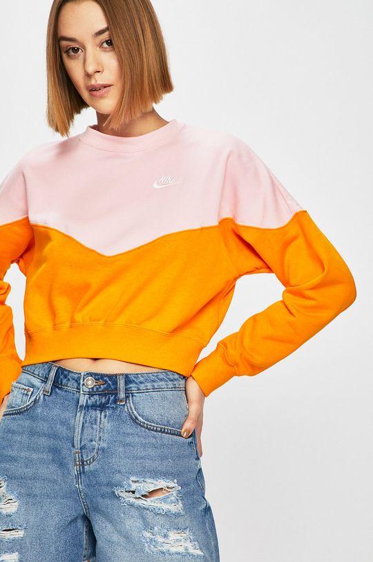 oranžová Nike Sportswear - Mikina Dámský