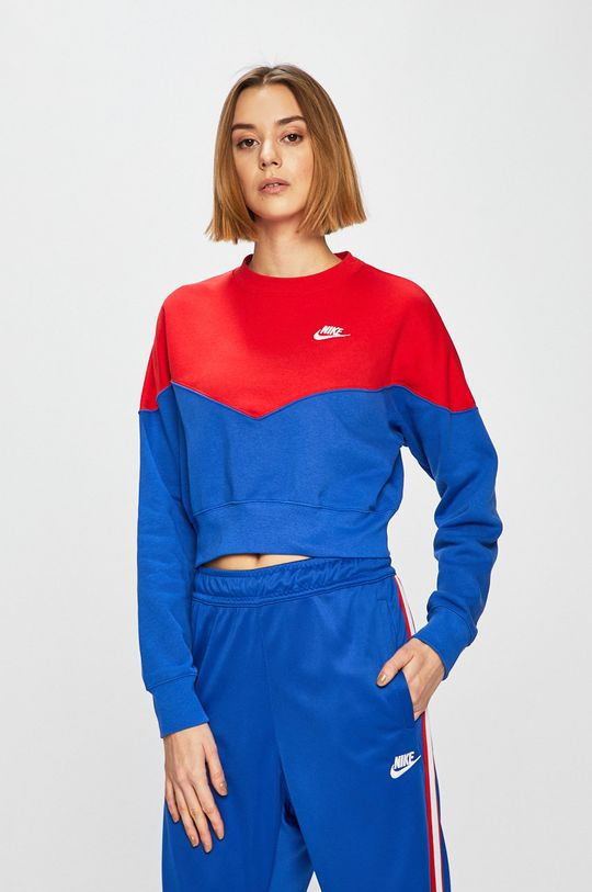 modrá Nike Sportswear - Mikina Dámský