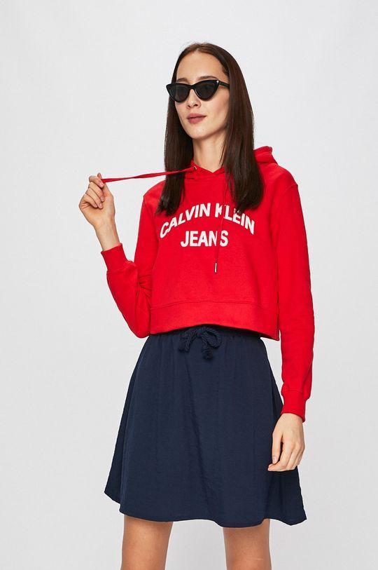 červená Calvin Klein Jeans - Mikina