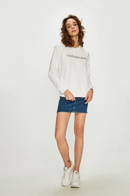Calvin Klein Jeans - Mikina bílá