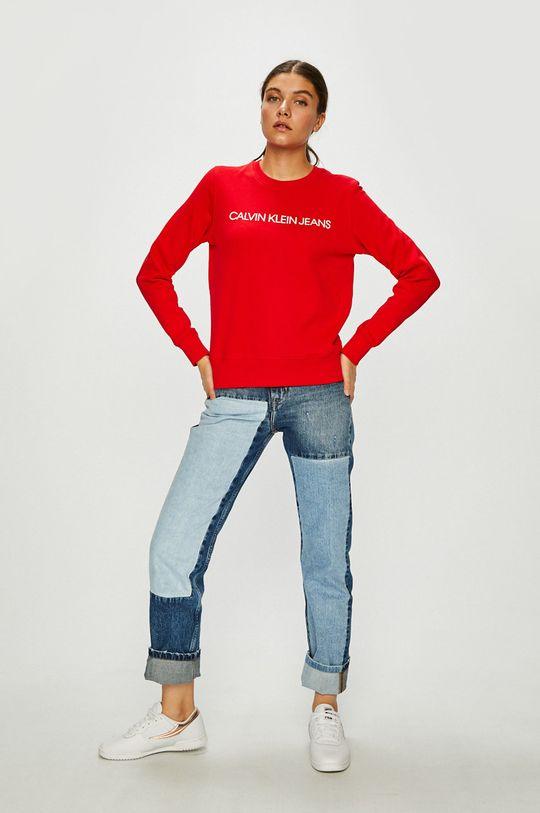 Calvin Klein Jeans - Mikina červená